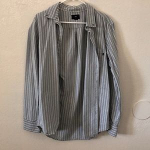 Obey Light Grey Button Up Shirt